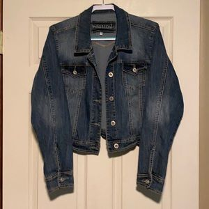 Maurices cropped jean jacket plus size 1